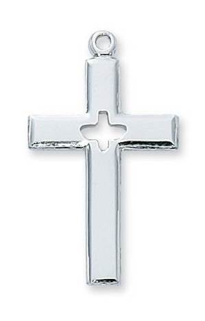 Sterling Silver Cross w/Holy Spirit Cut-out