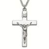 "Sterling Silver Crucifix Necklace with ""Our Lords Prayer"" Stamped on Back"