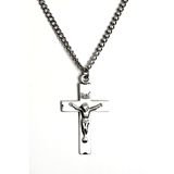 "Sterling Silver Crucifix on 24"" Chain"