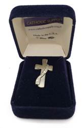 Sterling Silver Deacon Cross Tie Tack