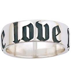 Sterling Silver Mens True Love Waits Purity Ring