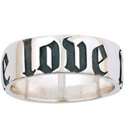 Sterling Silver Men's True Love Waits Purity Ring