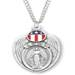 Sterling Silver Miraculous Medal Army Shield