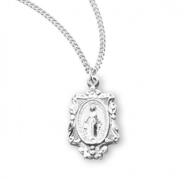 Sterling Silver Miraculous Medal on Chain