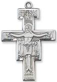 "Sterling Silver San Damiano Crucifix on 20"" Chain"