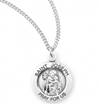 "St. Joseph Sterling Silver Medal on 18"" Chain"