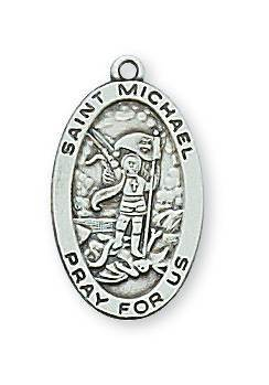 "Sterling Silver St. Joseph Medal on 20"" chain"