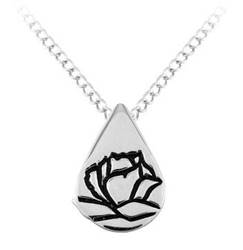 Sterling Silver Teardrop Memorial Pendant