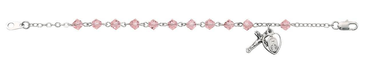 Sterling and Pink Bracelet with Miraculous