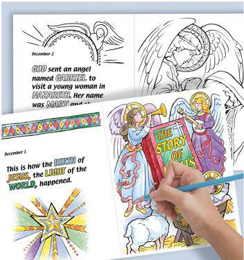 Christmas countdown Coloringbook