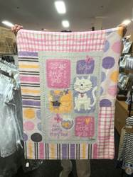 "Sugar and Spice Mini Fleece Baby Throw 30""x40"""
