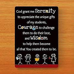Teachers Serenity Prayer Card *WHILE SUPPLIES LAST*