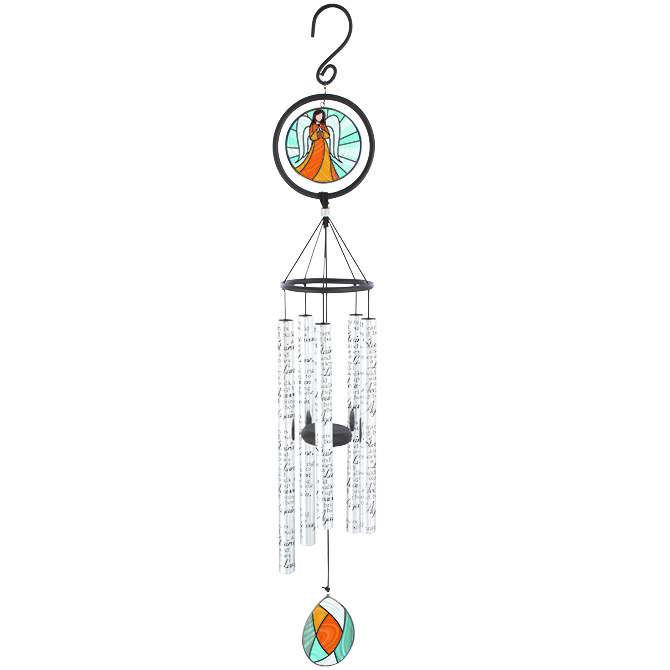 "Tears 35"" Stained Glass Wind Chime"