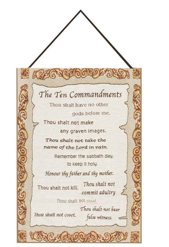 Ten Commandments Banner