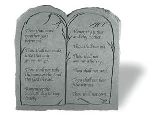 Ten Commandments Garden Stone (Not Catholic Version)