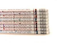 Ten Commandments Pencil