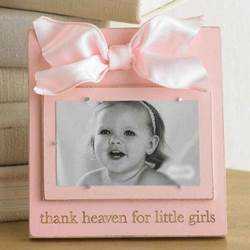 Thank Heaven For Girls Frame baby, baby gifts, baptism, baptism gifts, christening, christening gifts, new baby,  frame, girl frame, baby girl frame, pink frame