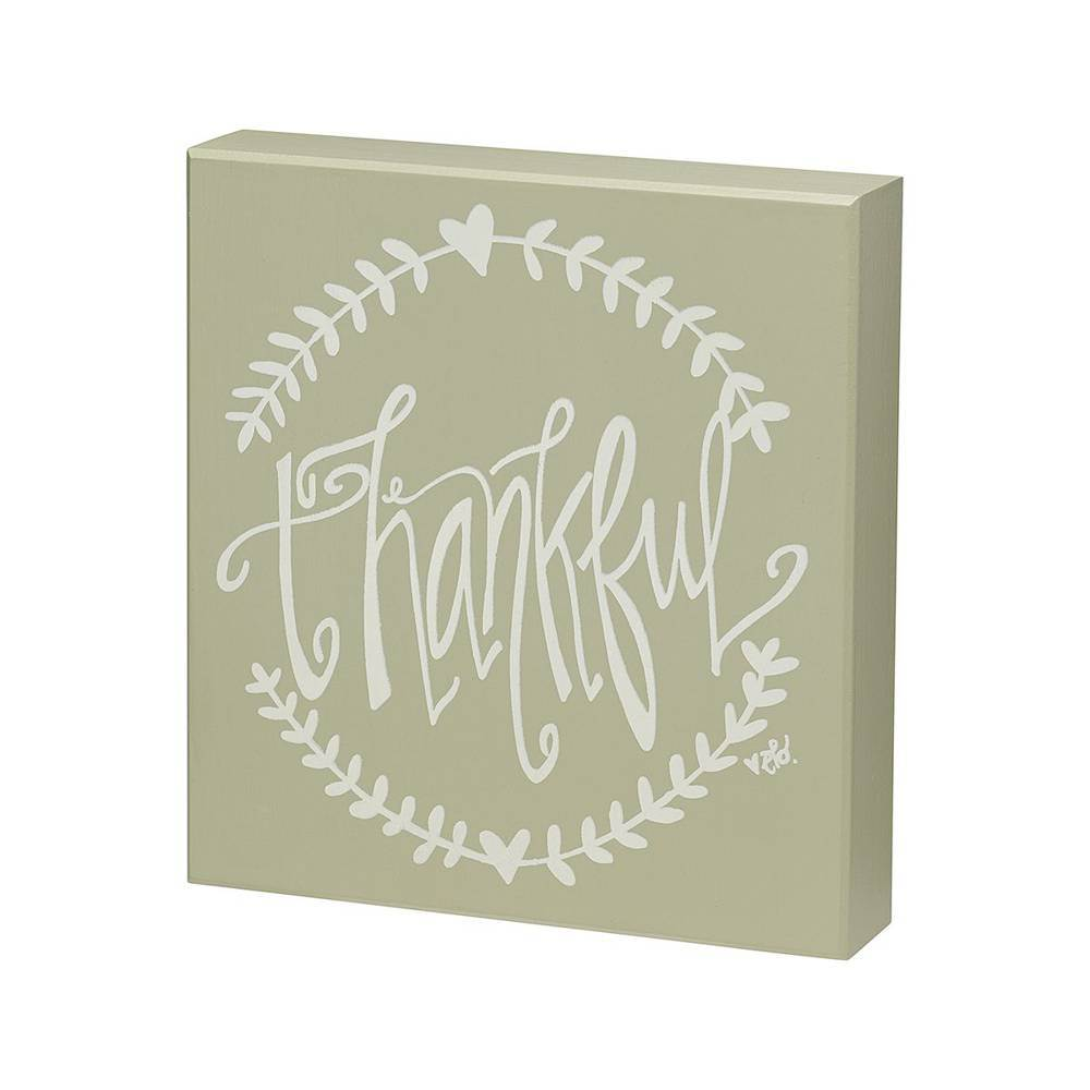 Thankful Box Sign cmas15b, box sign, box message holder, home decor, inspriational message, house gift, EB-7722