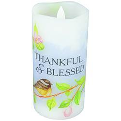 Thankful Flameless Candle