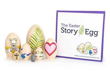 The Easter Story Egg and Book