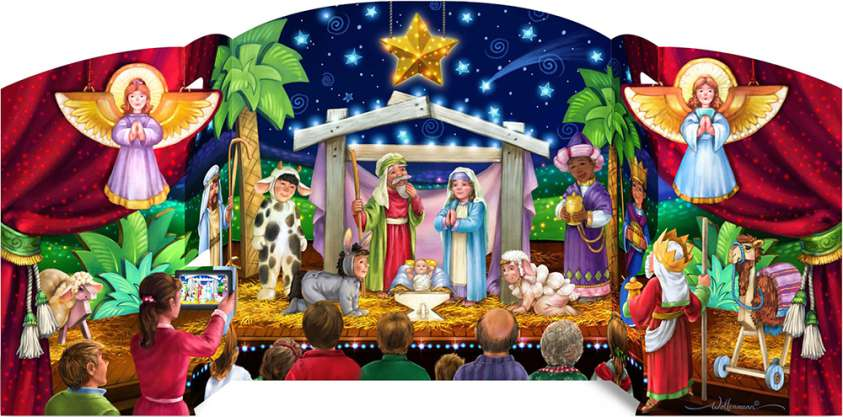 The Greatest Story Freestanding Advent Calendar