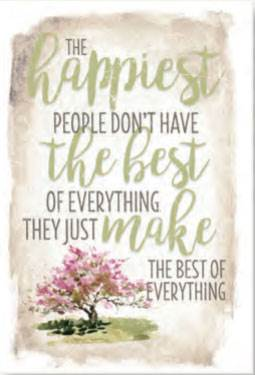 The Happiest People Easel Plaque