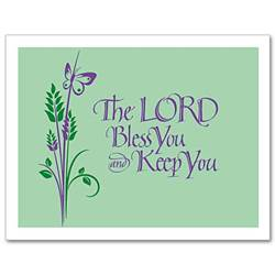 The Lord Bless You Notecards, Pkg/12