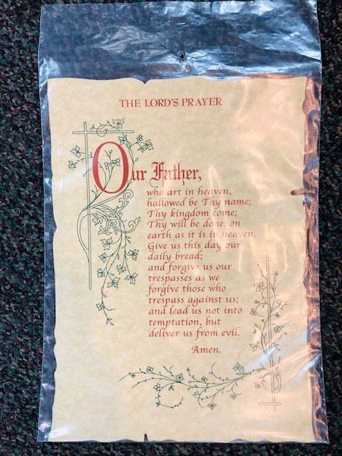 The Lord's Prayer on Parchment
