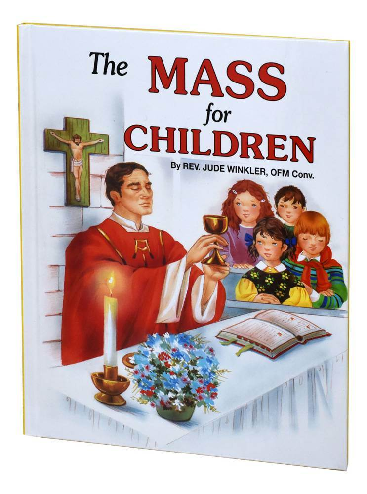 The Mass For Children Beautifully illustrated book that helps children become acquainted with the Mass. Ideal for First Communion. Pages: 32 Author: REV. JUDE WINKLER, O.F.M. CONV. Size: 5 1/2 X 7 3/8 Color: ILLUSTRATED Binding: HARDCOVER
