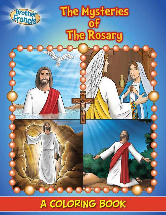 The Mysteries of The Rosary Coloring Book