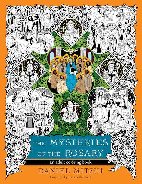 The Mysteries of the Rosary Adult Coloring Book