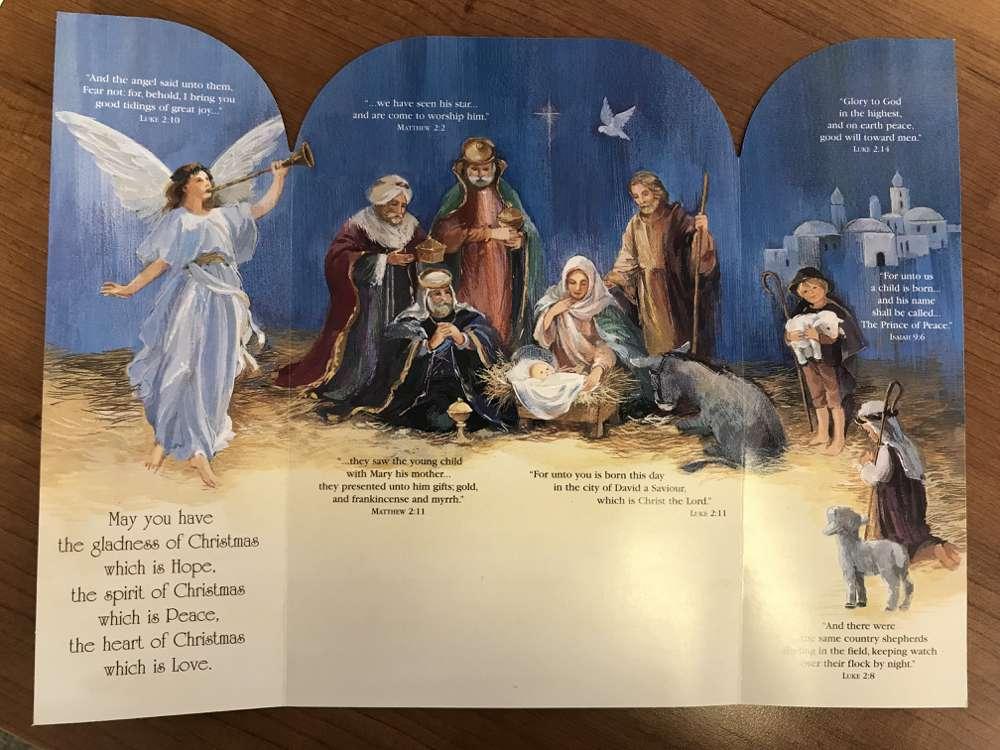 The Story of Christmas Tri Fold Box Christmas Cards