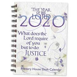 The Year of the Lord 2020 Desk Calendar