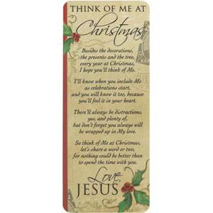 'Think of Me at Christmas' Bookmark