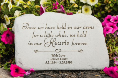 Those We Have Held Personalized Memorial Garden Stone
