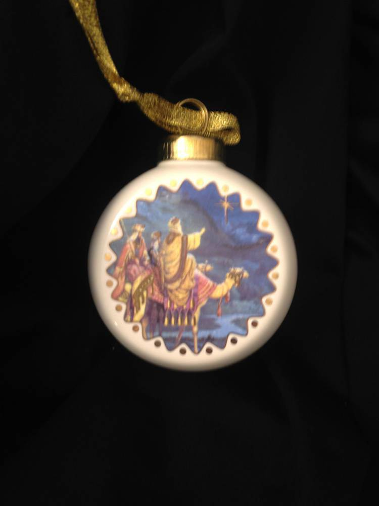 Three Kings Porcelain Ornament