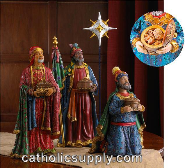 Three Kings Nativity Pieces