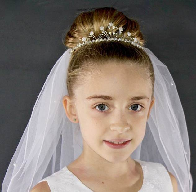 First Communion Tiara Veil