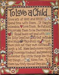 To Love A Child... Table Top/ Wall  Canvas home decor, wall hanging, to love a child, shower gift, new baby gift, inspirational, plaque