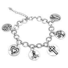 Token Charm Bracelet- Faith