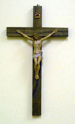Traditional  Walnut Crucifix