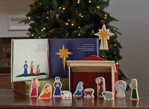 Traveling Star Nativity and Book Set
