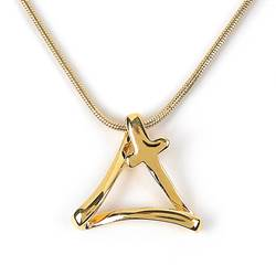 Trinity Cross Gold Necklace