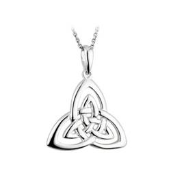 "Trinity Knot Sterling Silver Pendant on 18"" Chain"