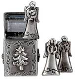 Triple Angels Prayer Box Charm
