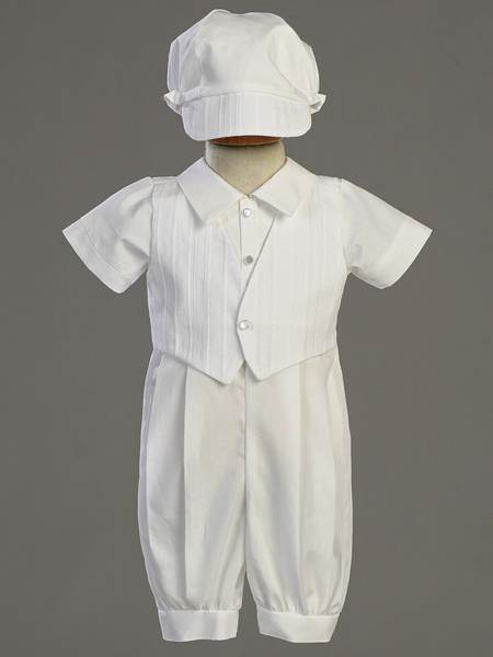 Tristan Cotton Romper with Bonnet christening romper, christening oufit, christening suit, baptism romper, baptism outfit, baptism suit, boy suit, boy outfit,