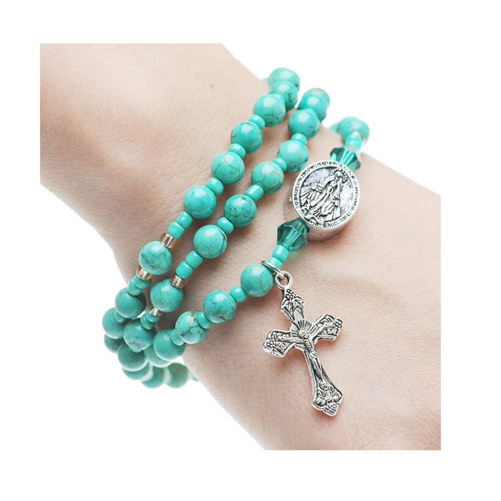 Turquoise Twistable Rosary Bracelet
