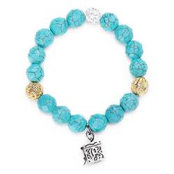 Turquoise Agate & Quartz Prayer Box Bracelet