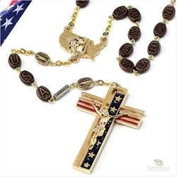 USA Gold Rosary
