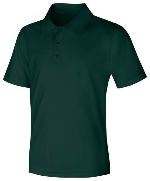 Unisex Hunter Green Performance Knit Polo, Short Sleeve